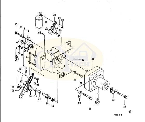 EX200 1 4257163 MOTOR 1 - For hitachi EX200-1 EX200-2 Accelerator Motor, Throttle motor 4257163 4188762  EX200-3 EX120-3 EX100-2 EX310