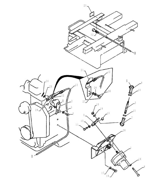 2406U197F4 SK200 3 SK200 5 - SK200-3 SK200-5 Throttle motor 2406U197F4 For Kobelco