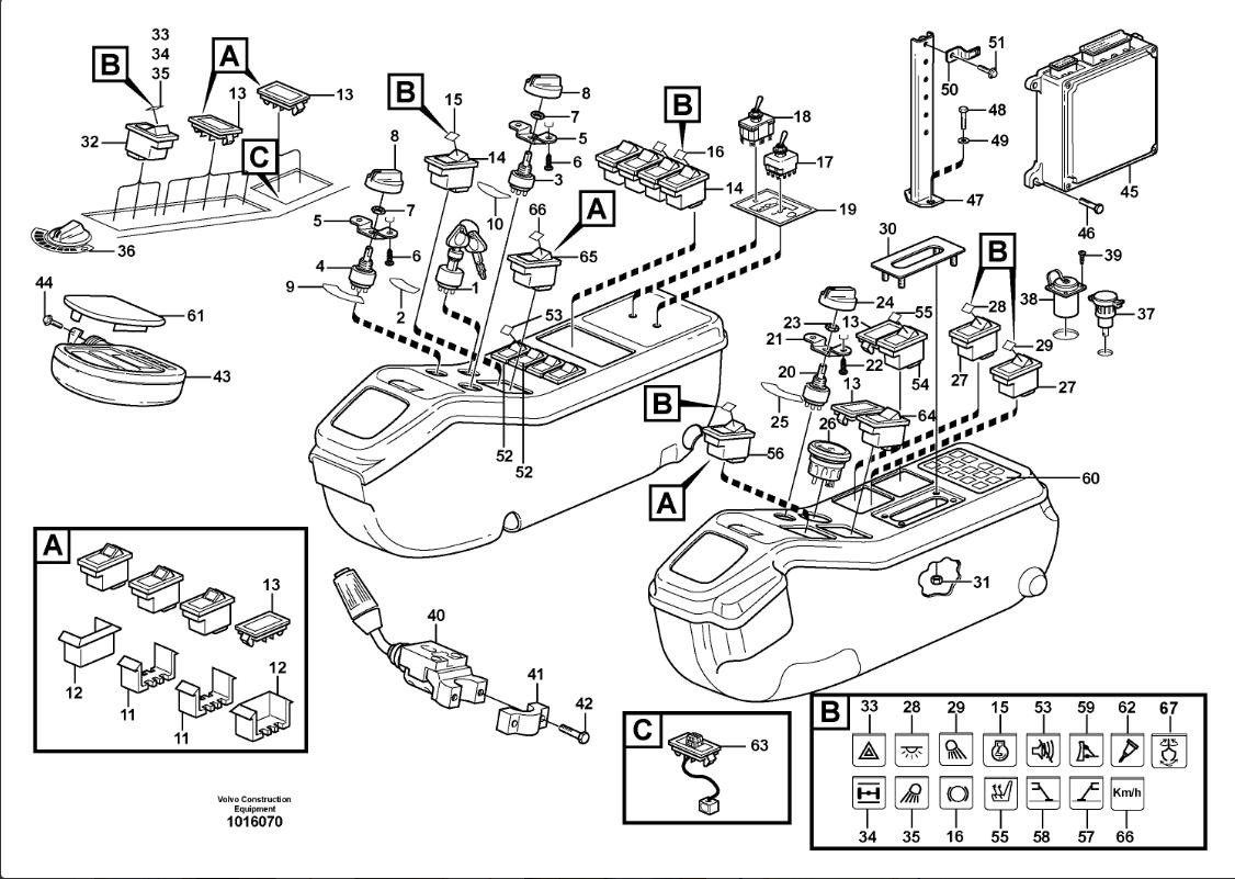 VOLVO PANEL - VOE14590052 Excavator Air Conditioner Controller A/C Panel Spare Parts for Volvo 14590052