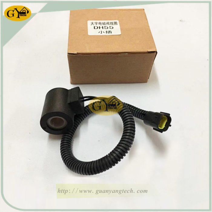 DH55 solenoid valve coil e1565233846374 - DH55 solenoid valve coil for Daewoo Doosan