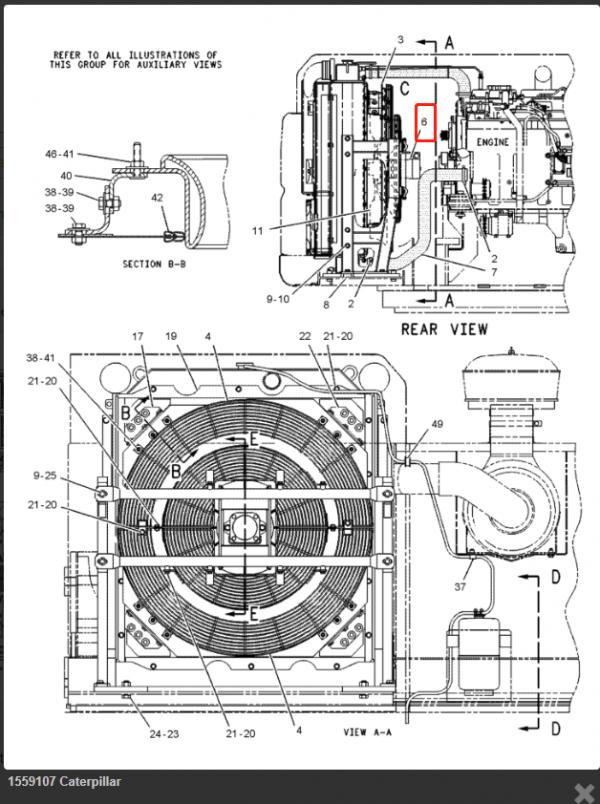 E345B Axial Fan Motor Group 155-9107 Hydraulic Piston Fan Drive GP 1559107