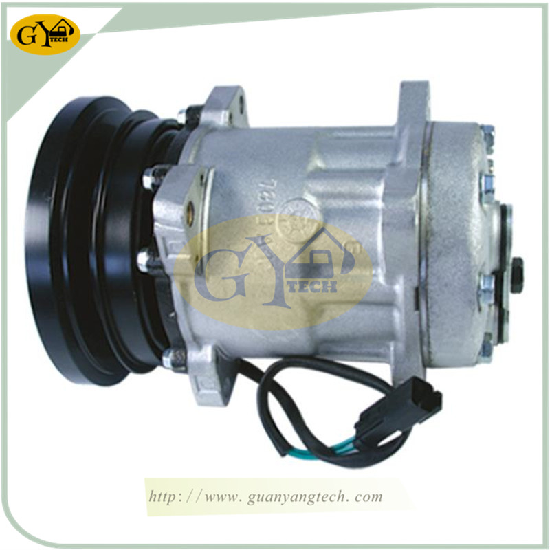 E5004 PC300 6  - PC300-6 Air Compressor 203-979-6580 Komatsu Excavator AC Compressor Assy 2039796580