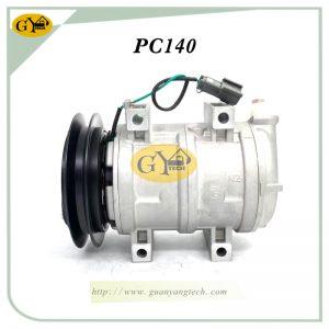 PC140 Air Compressor Komatsu Excavator AC Compressor Assy