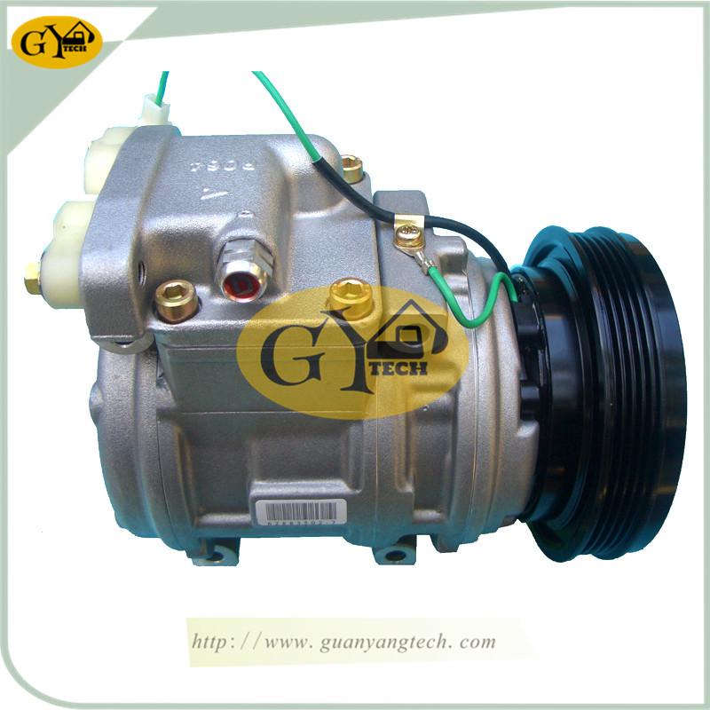 220 5 压缩机 - DH220-5 Air Compressor Pump 2208-6013B AC Compressor Pump Doosan Excavator air conditional compressor for Excavator