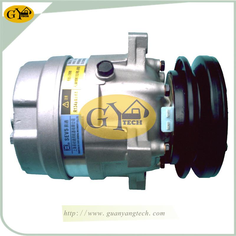 55 压缩机 24V - DH55 Air Compressor Pump 12V 24V AC Compressor Pump Doosan Excavator air conditional Pump for Excavator