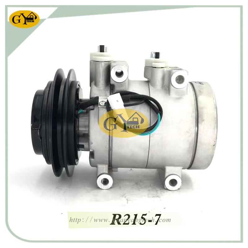 R215 7 压缩机 - R215-7 AC COMPRESSOR 11N690040 11N6-90040 R215-7 air compressure pump for Hyundai Excavator