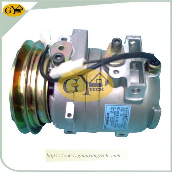 R225-7A/C Compressor 11N690040 for Hyundai Excavator R225-7 Air Conditioning Pump