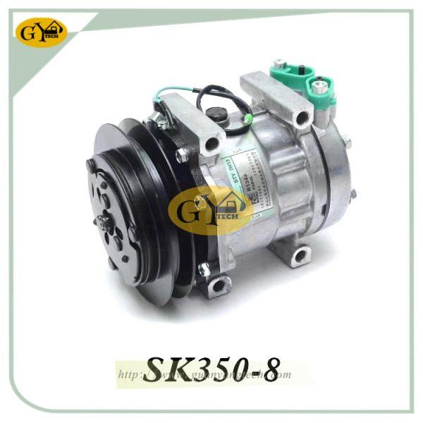 SK350-8 Air Conditional Pump YX91V00001F1 AC Compressor Assy Fits Kobelco SK260-8 Excavator