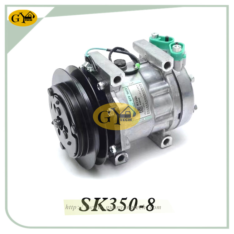 SK350 8 压缩机 - SK350-8 Air Conditional Pump YX91V00001F1 AC Compressor Assy Fits Kobelco SK260-8 Excavator